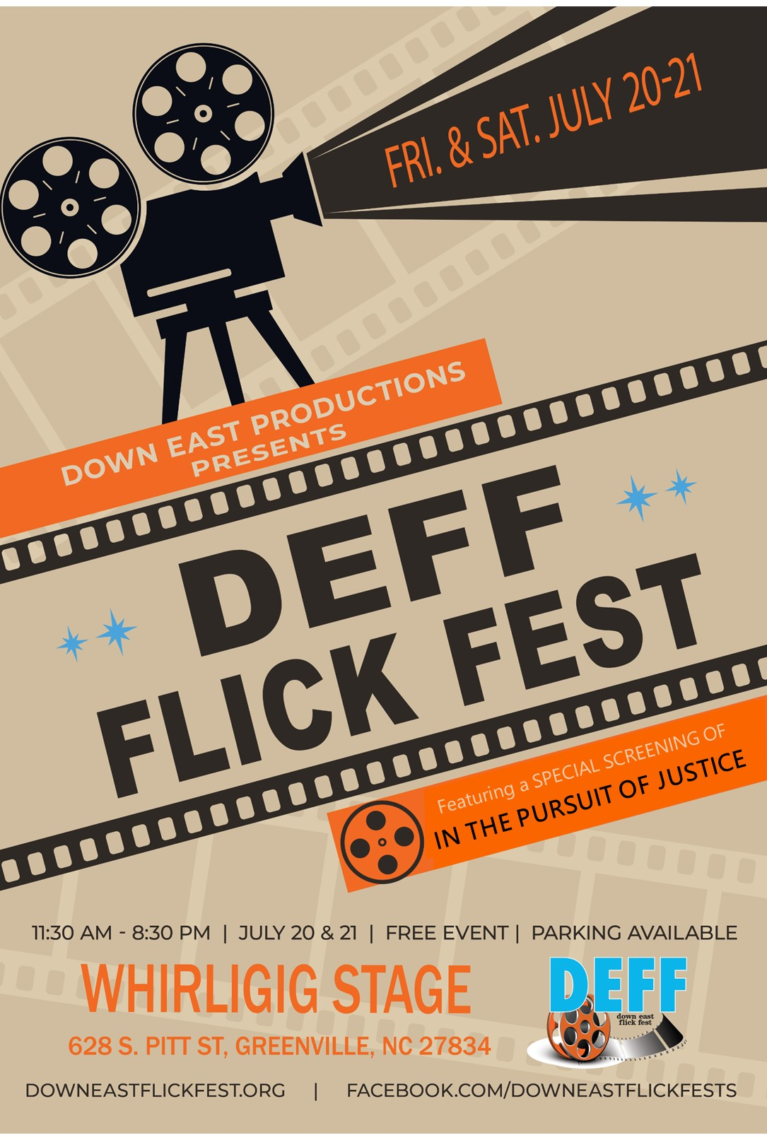 Down East Flick Fest 2018 Poster